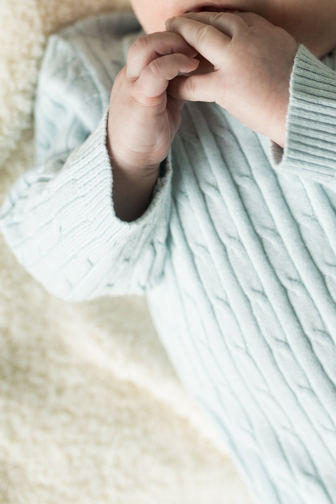 Saxon Cable Knit Onesie
