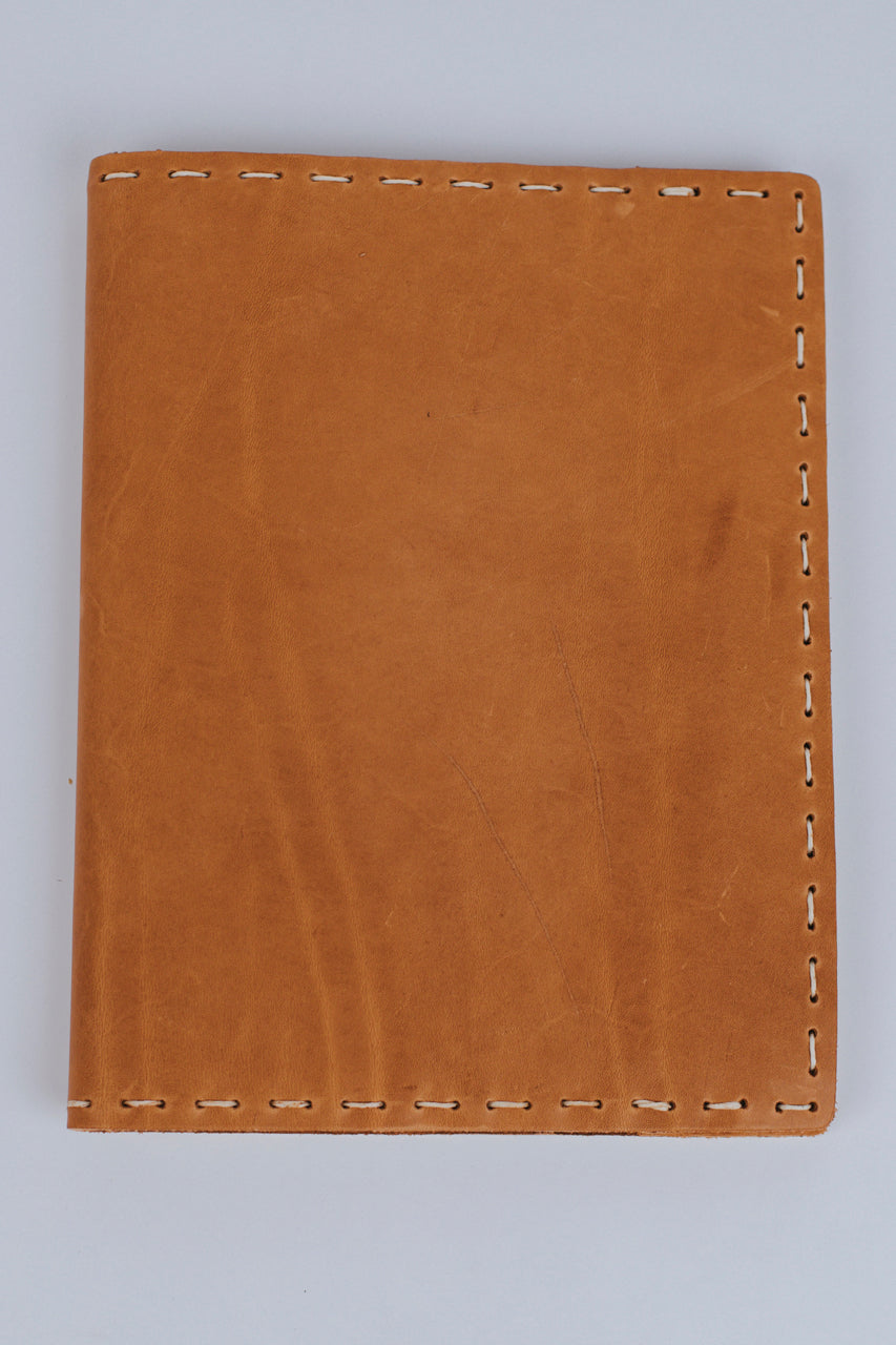 Hand-Sewn Large Leather Composition Cover | ROOLEE Gifts