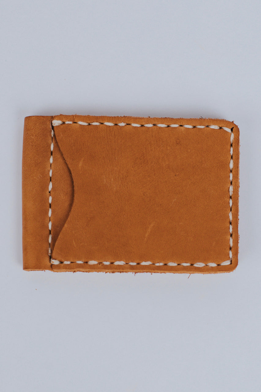 Hand-Sewn Money Clip Leather Wallet | ROOLEE Gifts