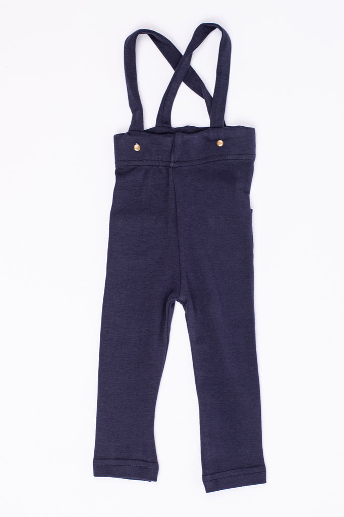 Navy Suspender Pant for Babies | ROOLEE