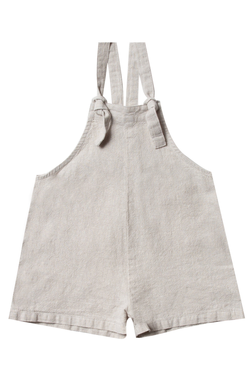 Grey short overalls for summer kids outfits | ROOLEE
