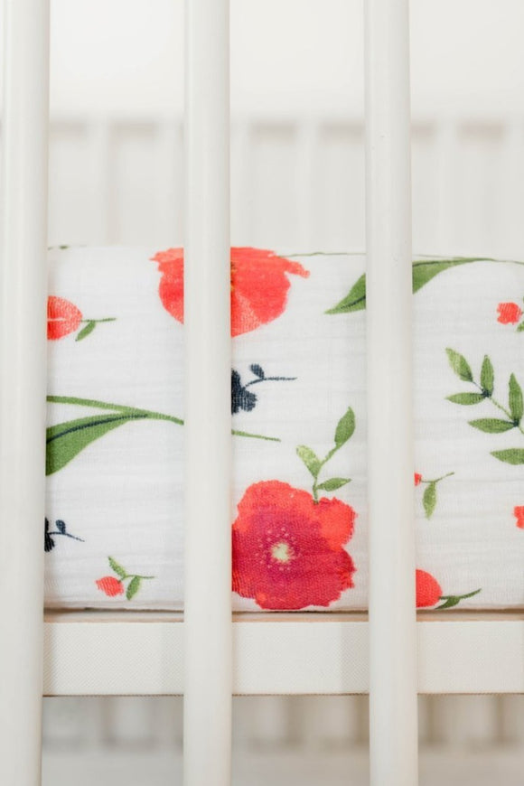 Summer Poppy Crib Sheet