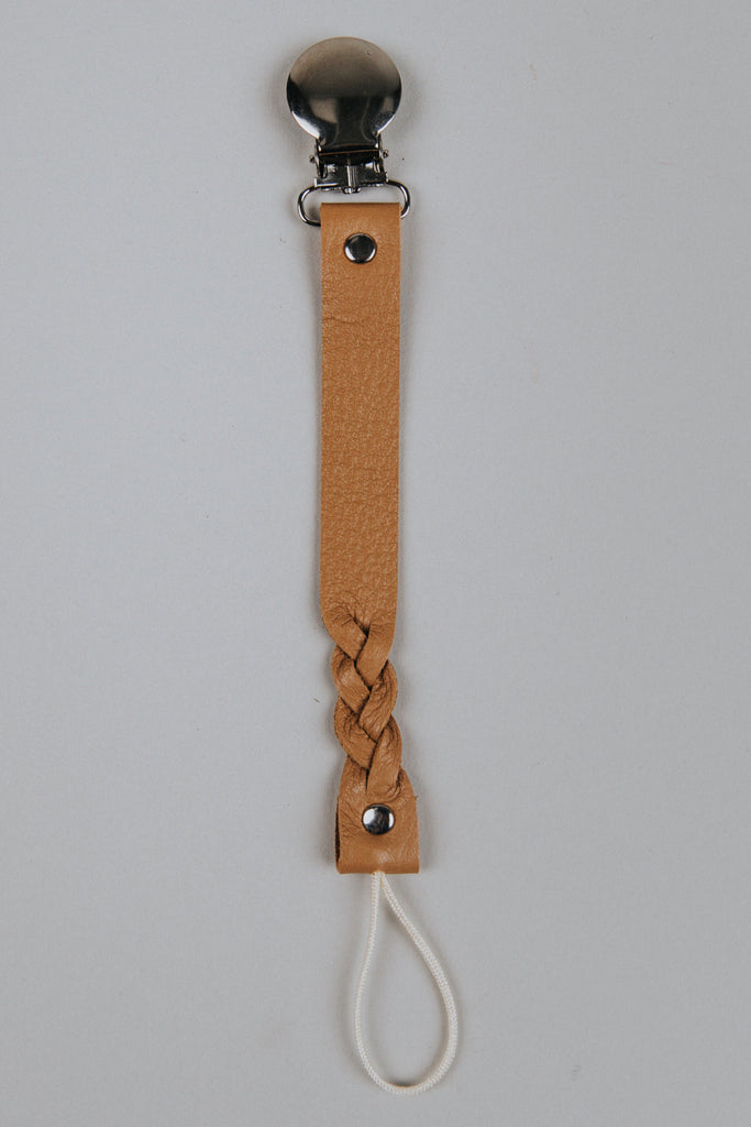 Faux Leather Pacifier Clips | ROOLEE