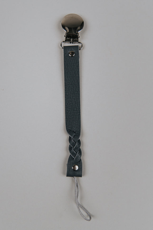 Charcoal Classic Pacifier Clip | ROOLEE