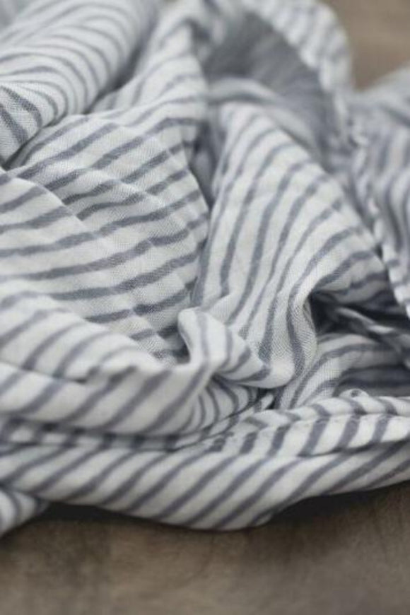 Cloudy Stripe Bamboo Swaddle