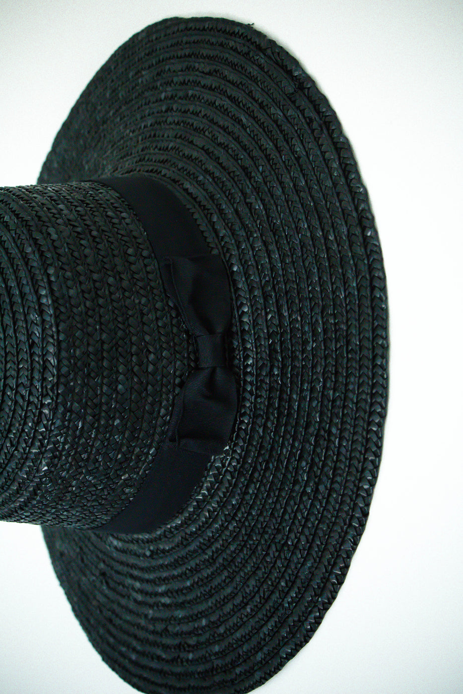 Black Straw Sun Hat For Women | ROOLEE
