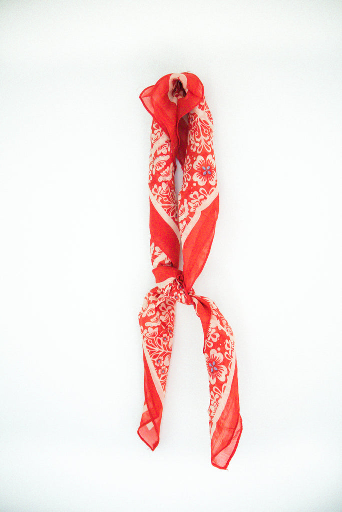 Red Floral Bandana | ROOLEE