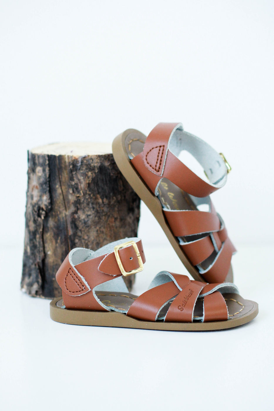 Tan Saltwater Sandals | ROOLEE