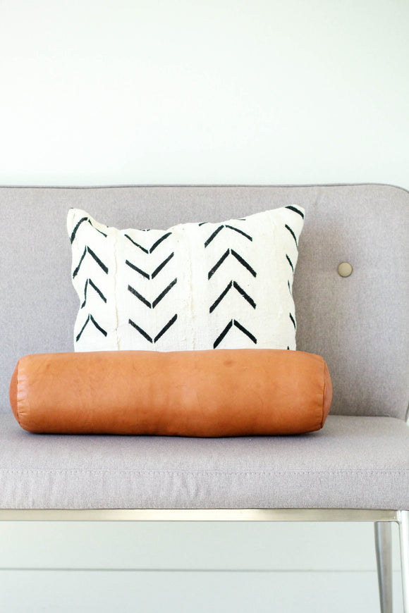 Round Leather Pillow | ROOLEE