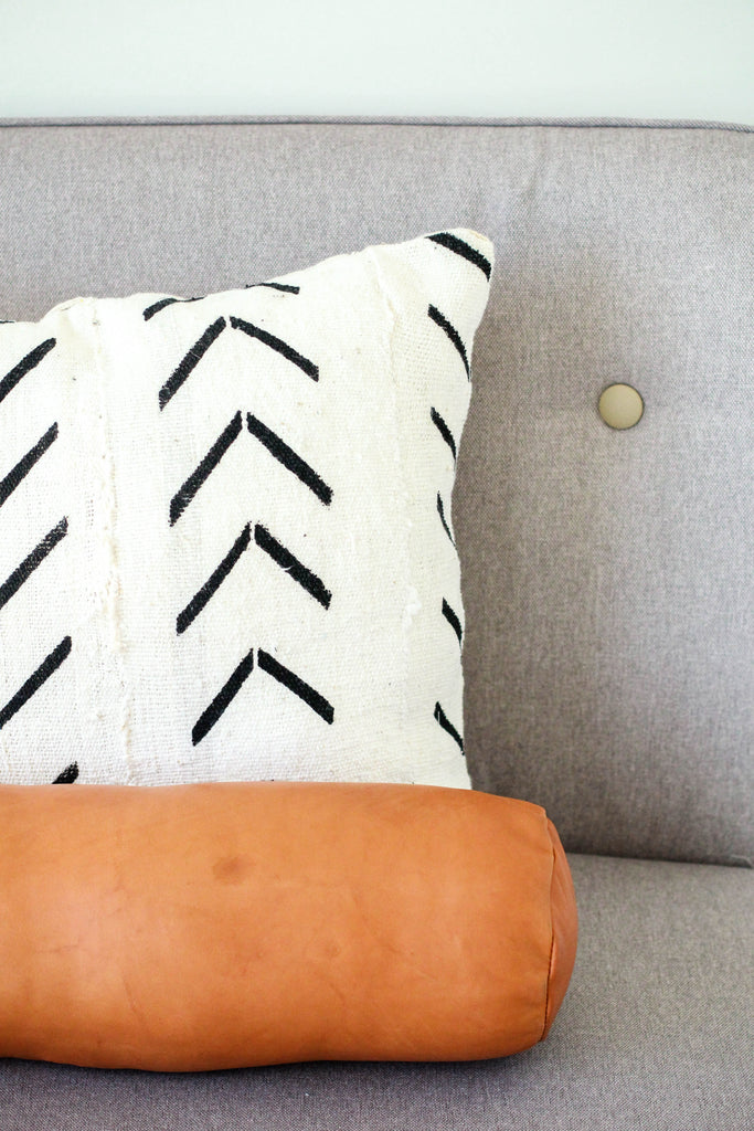 Leather Bolster Pillow | ROOLEE