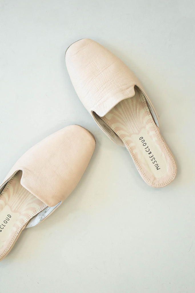 Light Pink Rounded Toe Mule | ROOLEE