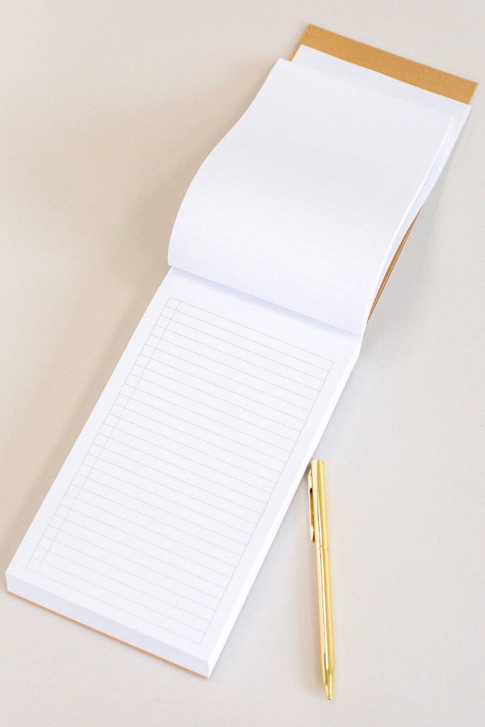 White And Gold Notebook And Pen | ROOLEE
