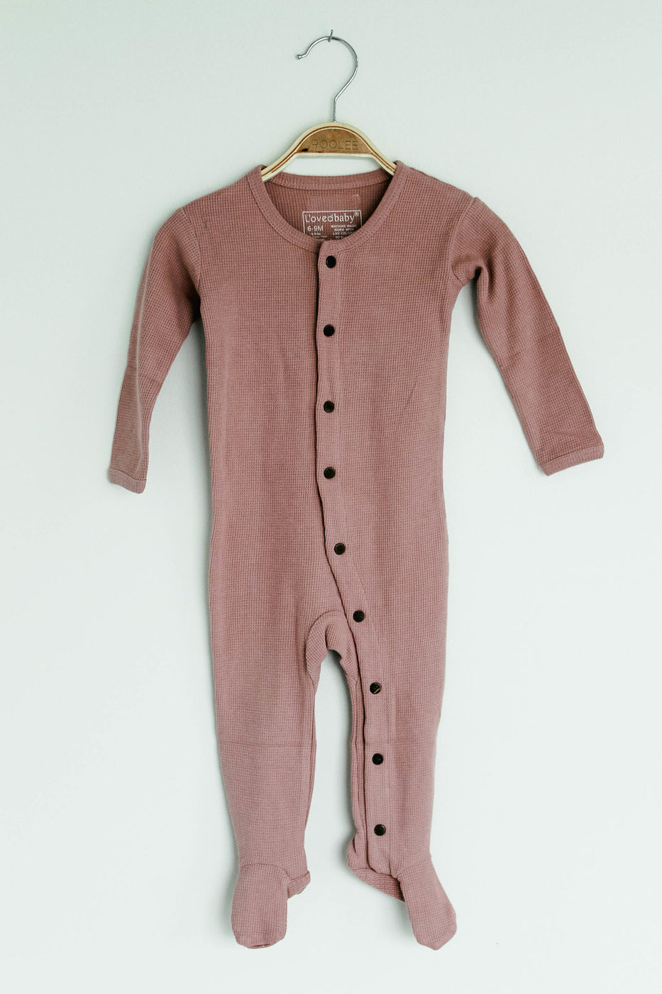 Mauve Knit Footed Onesie | ROOLEE Kids