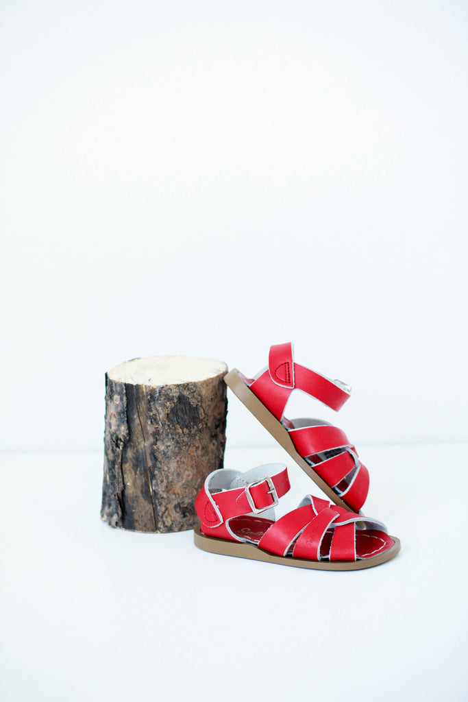 Mini Saltwater Sandals Red | ROOLEE Kids