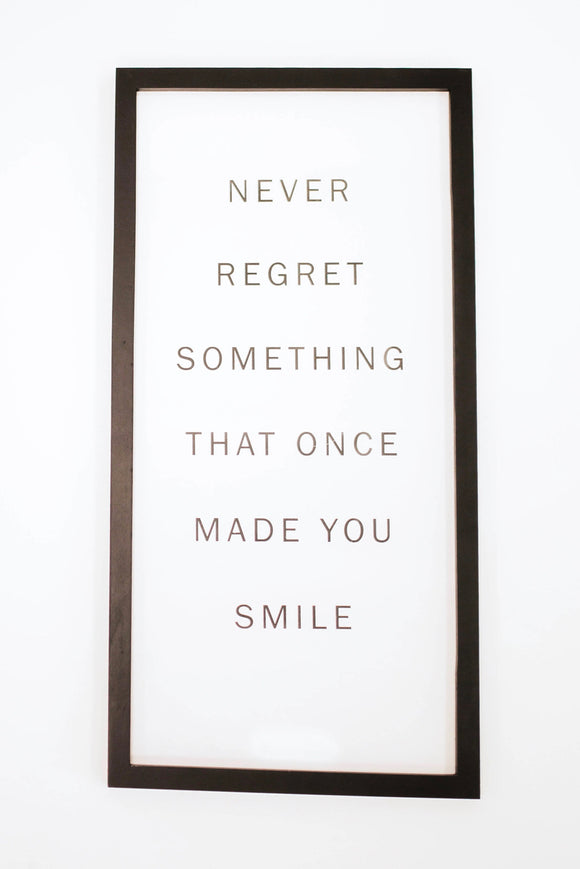 Never Regret Wall Decor | ROOLEE