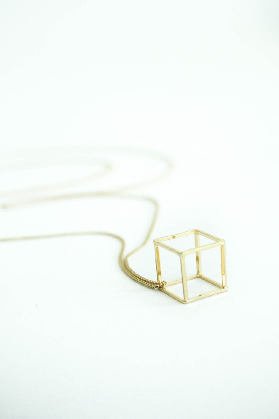 Gemma Cube Necklace | ROOLEE
