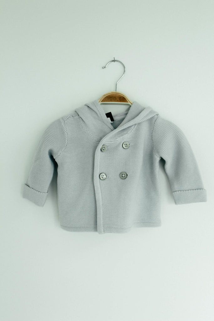 Hooded Sweater Jacket With Buttons | ROOLEE Kids