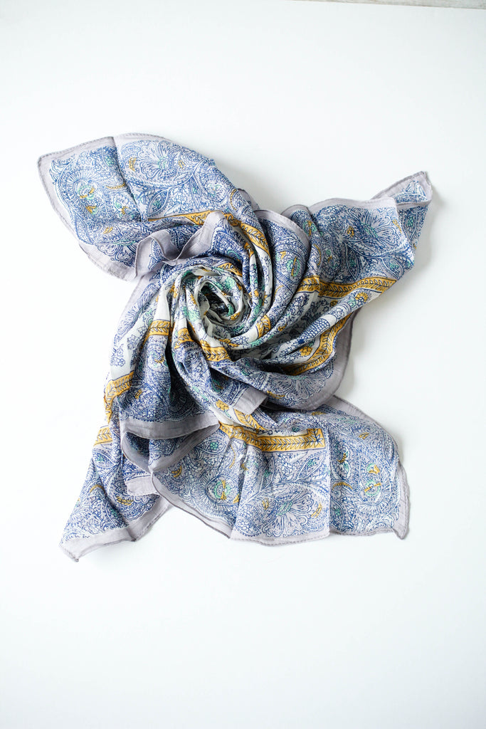 Tapestry Bandana in Blue | ROOLEE