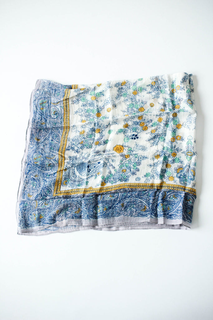 Blue + Yellow Paisley Tapestry Ascot | ROOLEE