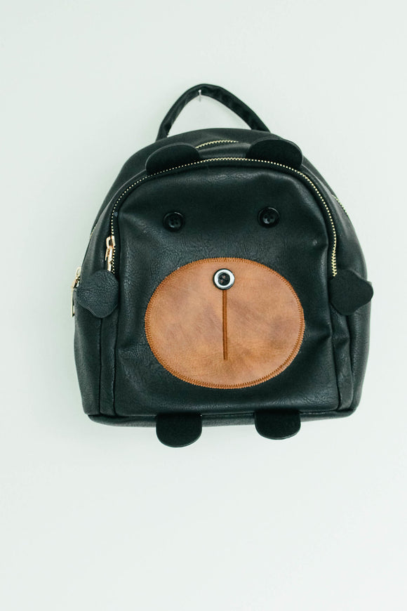 Little Bear Backpack in Black | ROOLEE Kids