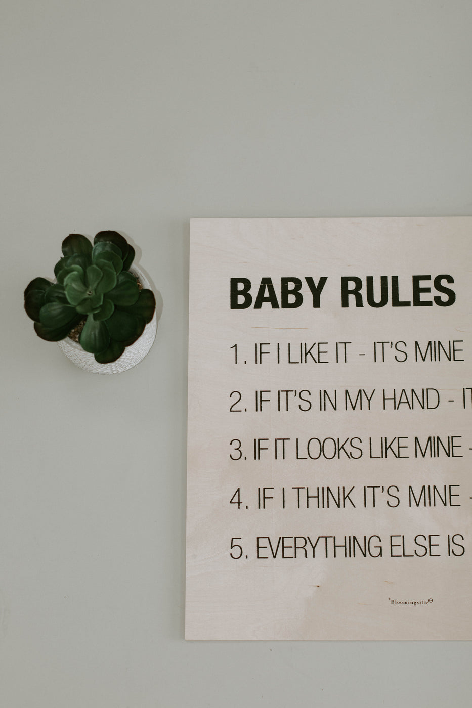 Baby Rules Wall Decor | ROOLEE