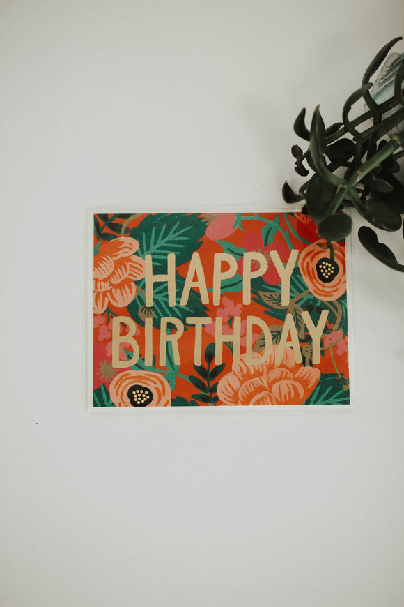 Poppy Birthday Card | ROOLEE