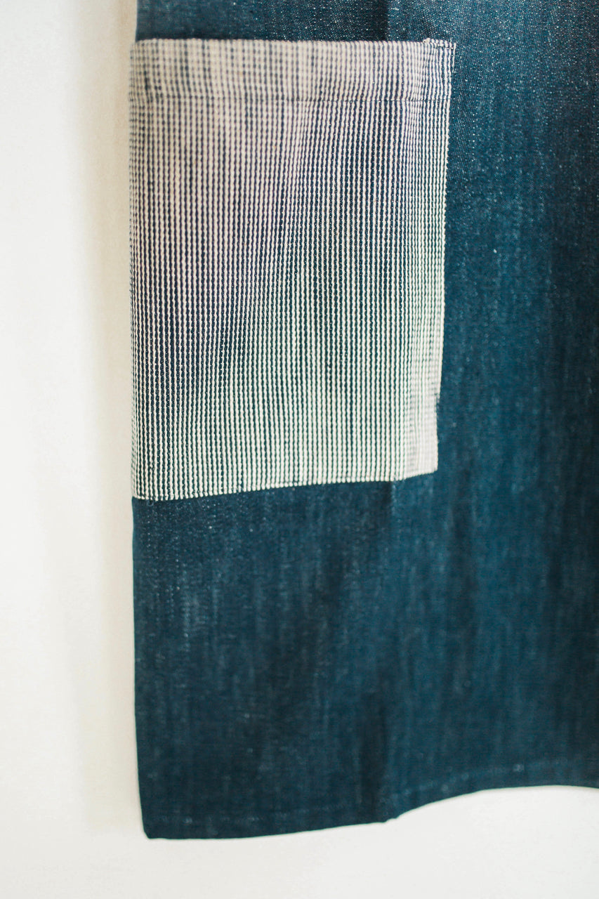 Woven Denim Pocket Apron | ROOLEE