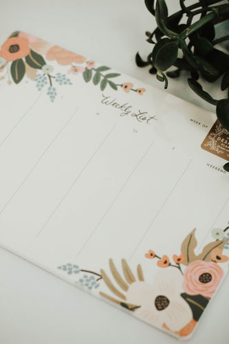 Lively Floral Weekly Desk Pad | ROOLEE
