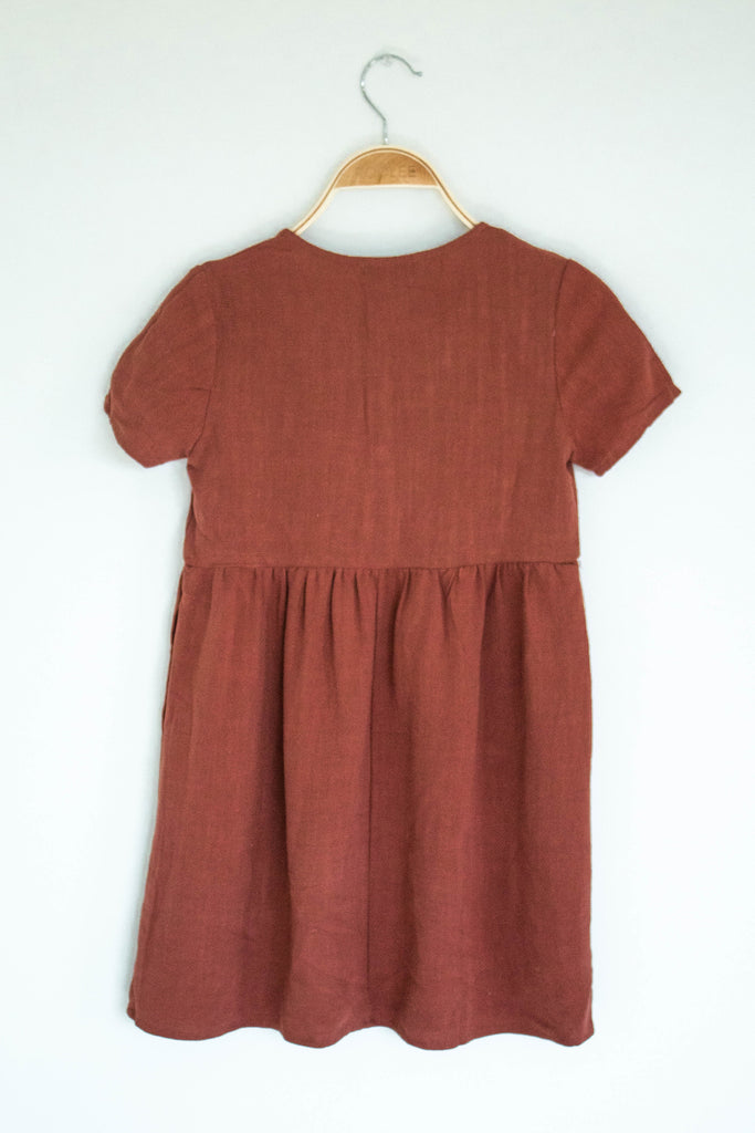 Chocolate Colored Button Dress | ROOLEE Kids