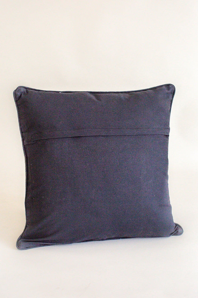 Black Stripe Woven Pillow | ROOLEE