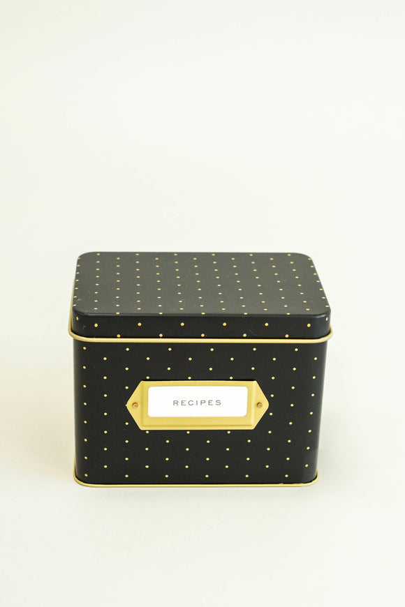 Polka Dot Recipe Box