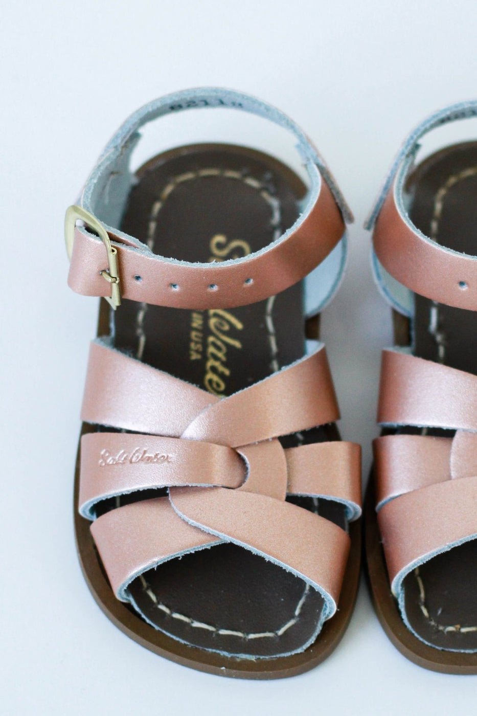 Mini Saltwater Sandals Rose Gold | ROOLEE Kids