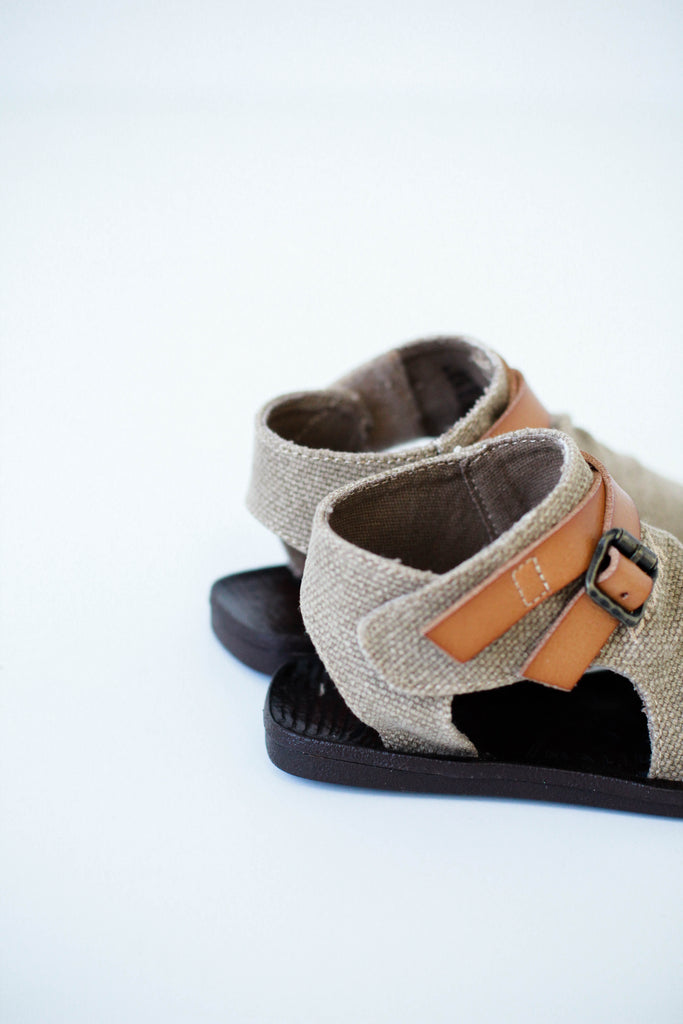 Buckle + Canvas Sandals For Kids | ROOLEE Kids