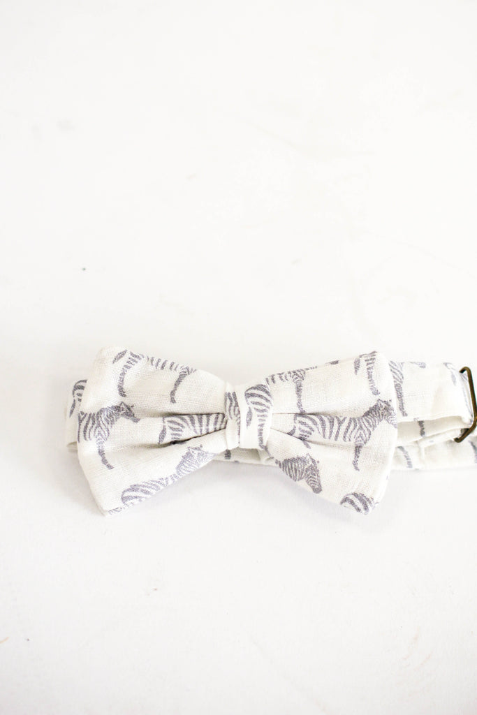 Zebra Adjustable Bow Tie | ROOLEE Kids