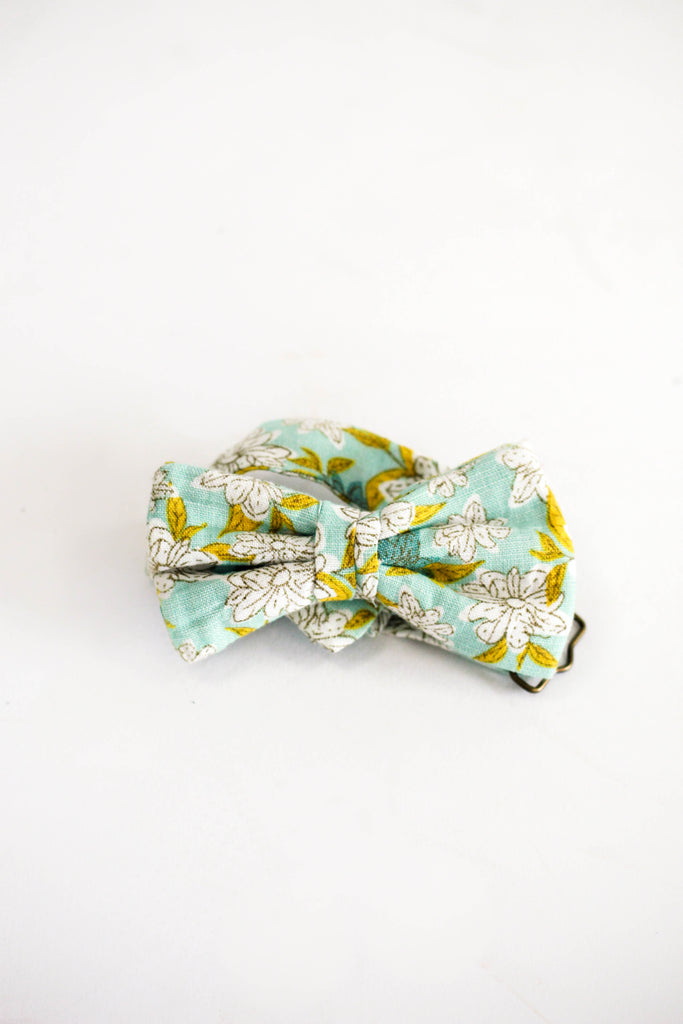Blue + Yellow Neck Tie For Little Boys | ROOLEE Kids