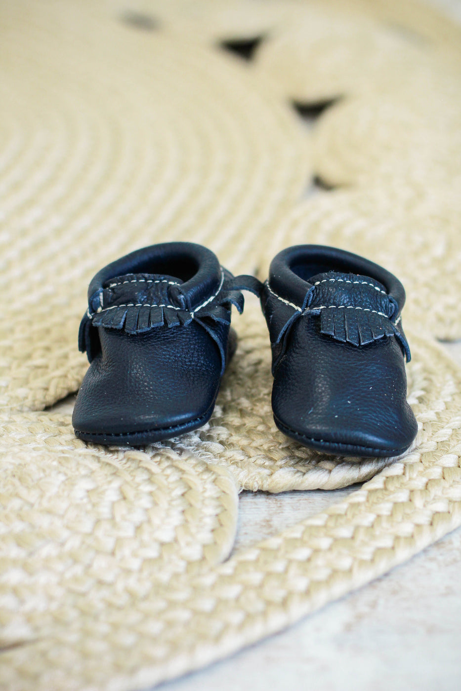 Freshly Picked Navy Moccasin | ROOLEE Kids