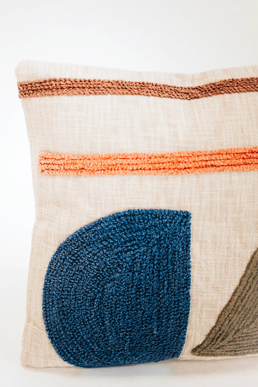Embroidered Modern Pillow | ROOLEE