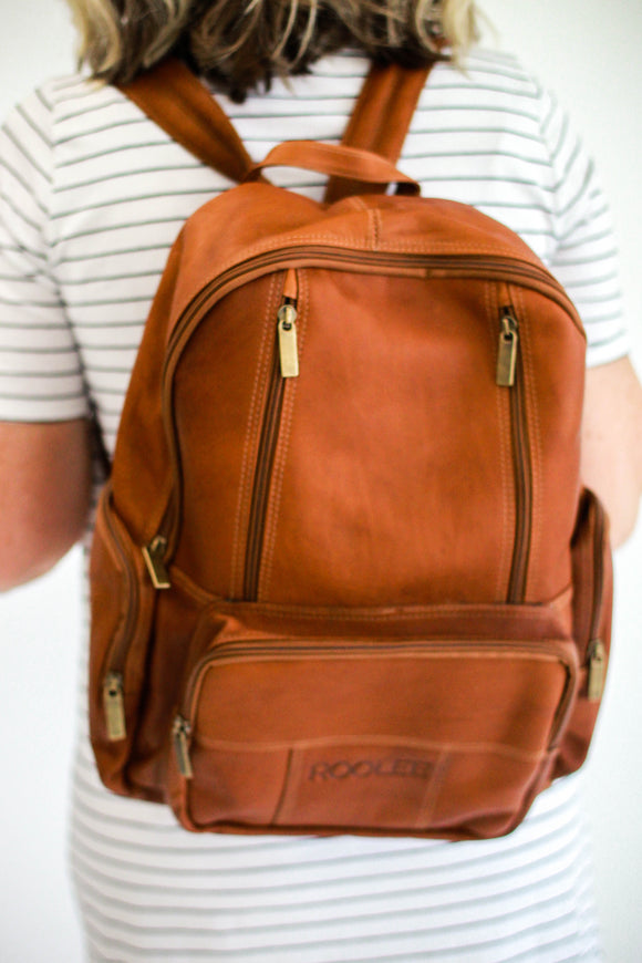 Solid Leather Backpack | ROOLEE