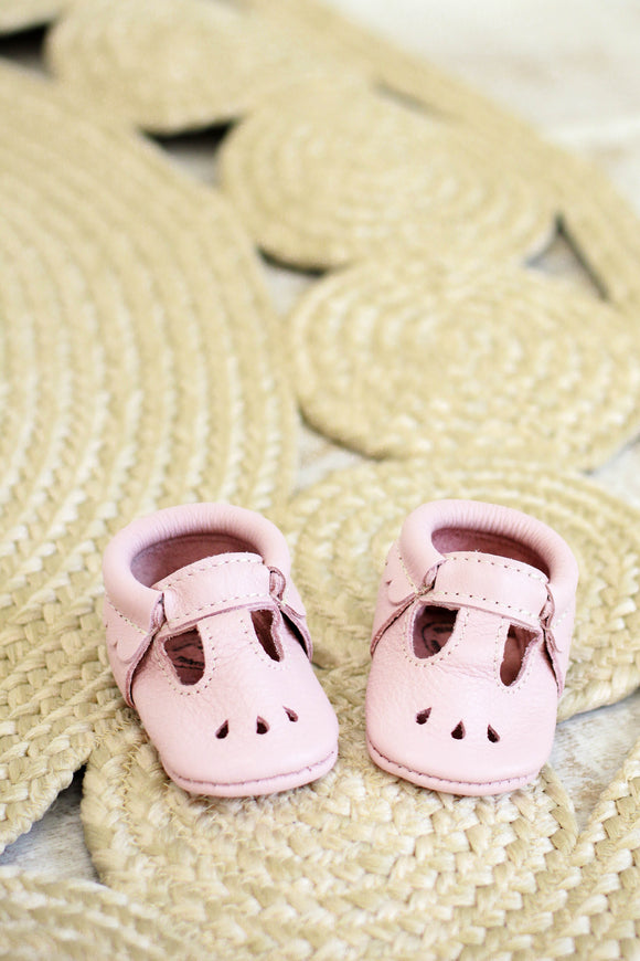 Freshly Picked Blush Mary Jane Moccasins | ROOLEE Kids