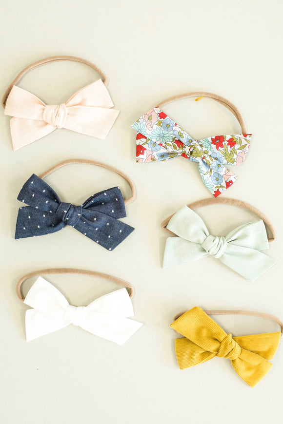 Oversized Baby Bow Headband For Girls | ROOLEE Kids