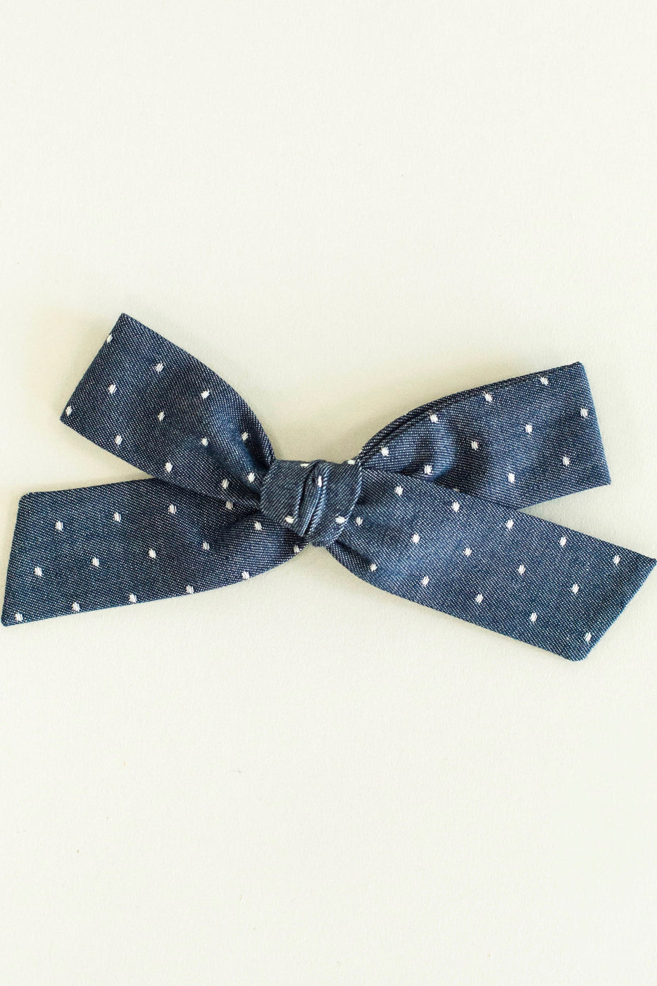 Denim Oversized Hair Bow For Baby Girls | ROOLEE Kids
