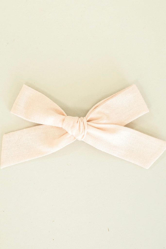 Blush Oversized Hair Bow For Baby Girls | ROOLEE Kids