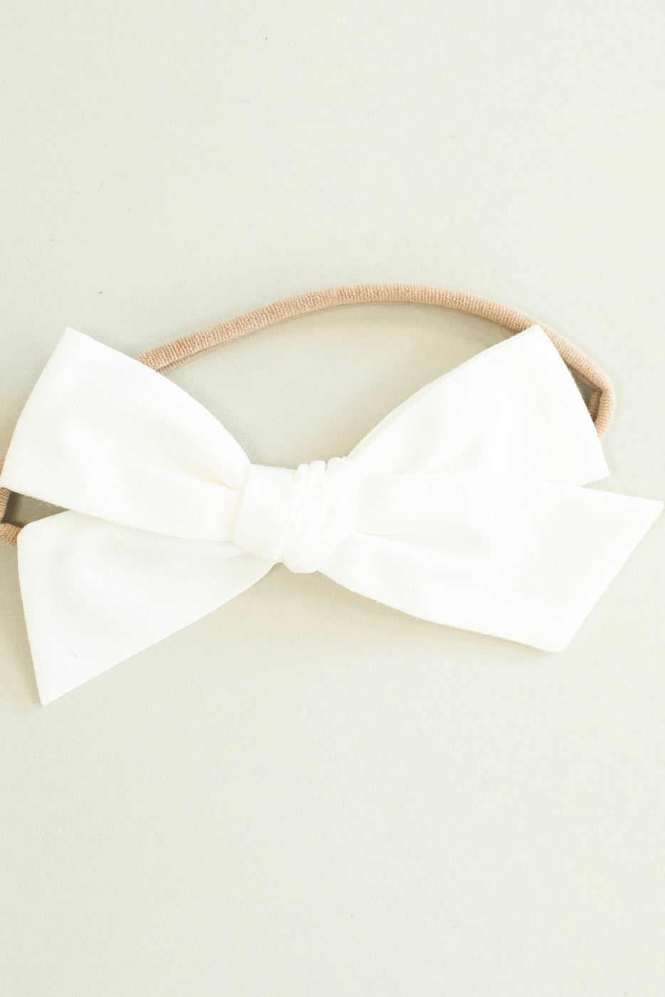 Soft White Baby Bow Headband Outfit | ROOLEE Kids