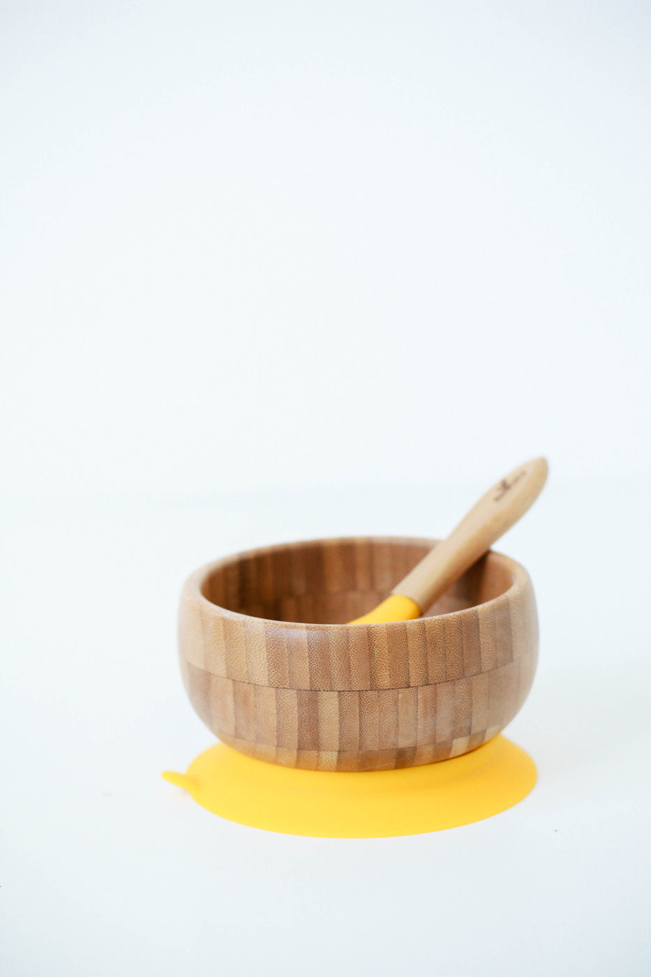 Bamboo Bowl Set in Yellow | ROOLEE Kids