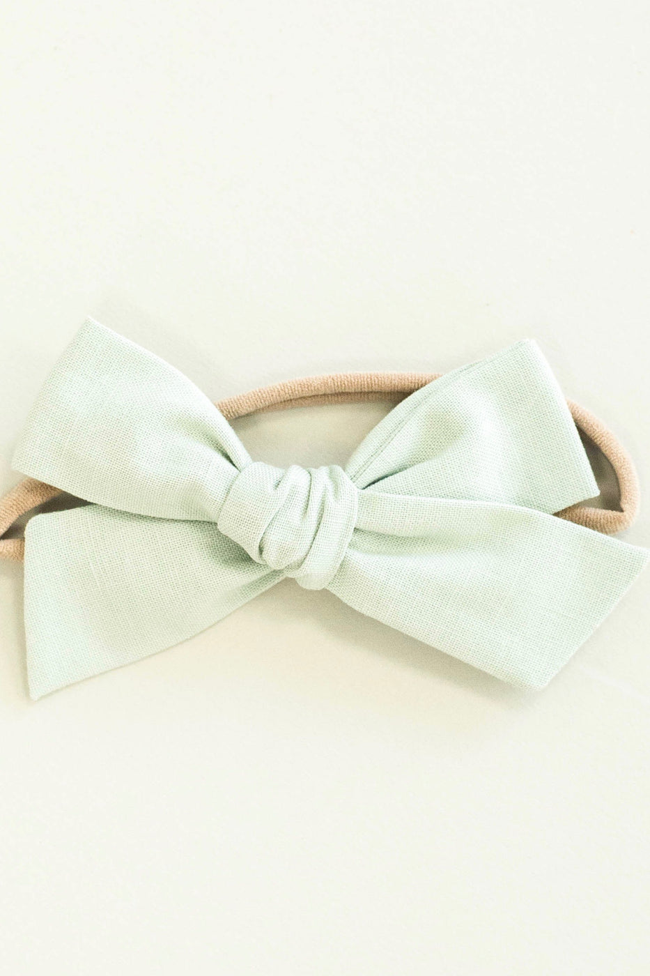 Mint Oversized Hair Bow For Baby Girls | ROOLEE Kids
