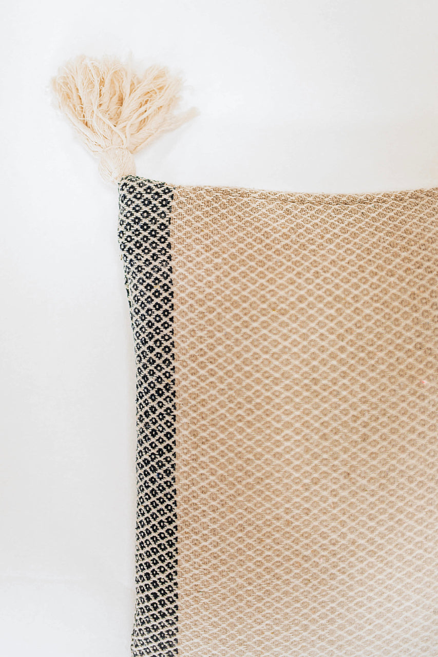 Woven Pillow with Tassels | ROOLEE
