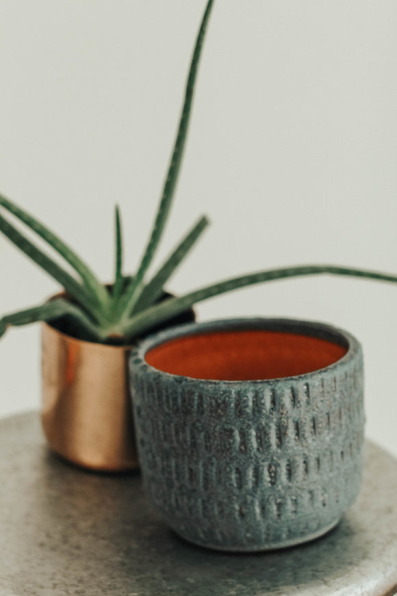 Teal Textured Planter | ROOLEE
