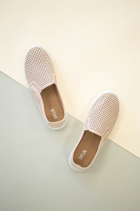 Perforated Summer Pink Sneakers | ROOLEE