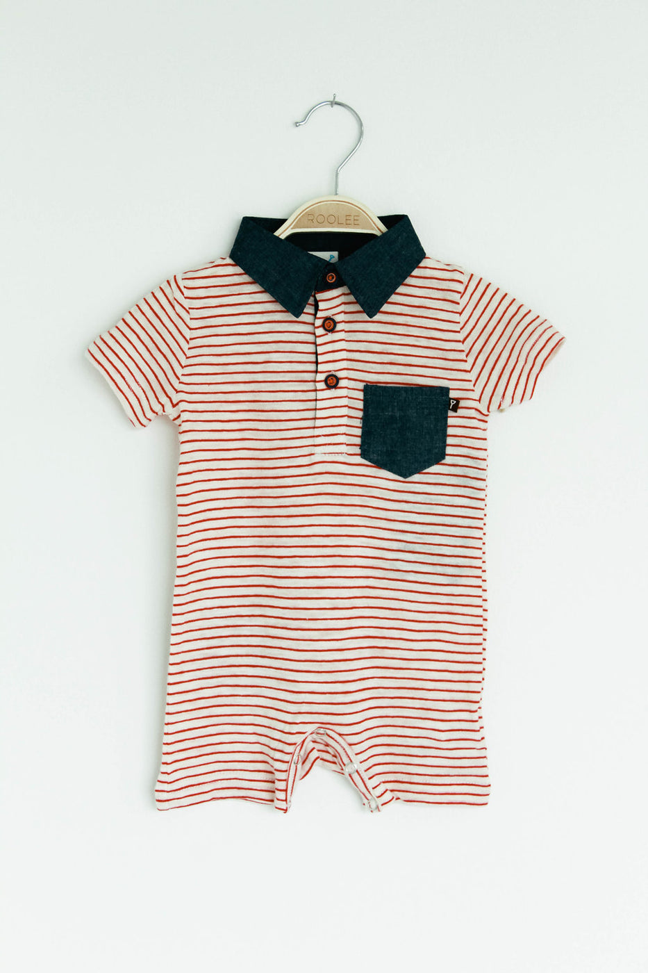 Red + White Stripe One-Piece | ROOLEE
