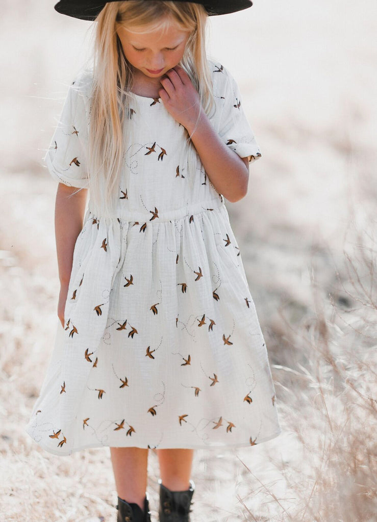 Ivory Off White Dress For Kids | ROOLEE Kids